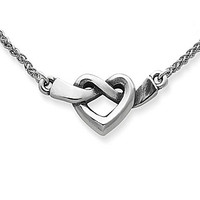 James Avery Heart Knot Necklace - Silver 20 in.