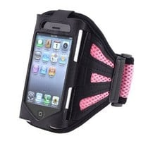 Insten Black/Pink Armband Compatible with Apple iPhone 4S