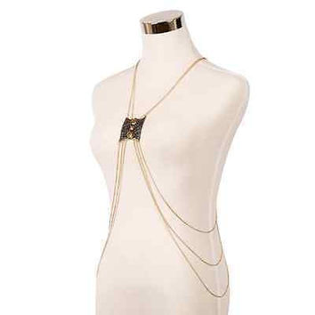 Body chain Vintage gold sexy beach body chain Long necklace Christmas gift