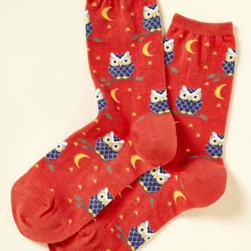Knock Nocturne, Who's There? Socks | Mod Retro Vintage Socks | ModCloth.com