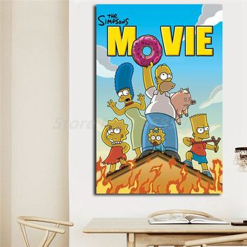 The Simpsons Movie HD Wallpapers Wall Art Canvas Nordic Posters Prints Painting Wall Pictures For Modern Living Room Home Decor