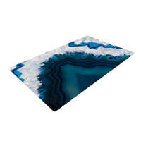 "KESS Original ""Blue Geode"" Nature Photography Woven Area Rug"