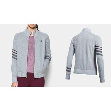 Under Armour UA French Terry Warm-Up Jacket 1308157 Grey Heather Large