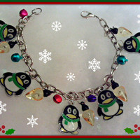 Holiday Penguin Charm Braclet