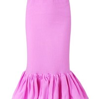 Pink Frilled Pencil Skirt | Tim Ryan | Avenue32
