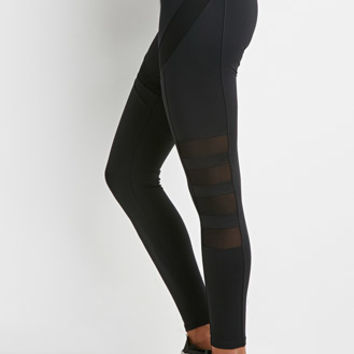 Mesh Paneled Athletic Leggings