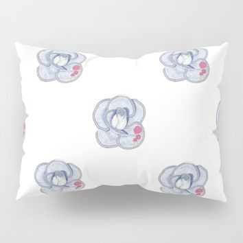 Denim Rose Pillow Sham by drawingsbylam