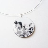Memorial Jewelry - Remembrance Necklace Made to Order - Custom Photo to Painting