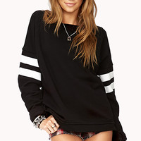 Varsity Striped Sweatshirt