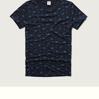 Patterned Crew Tee