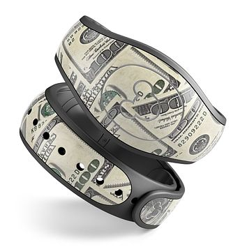 Hundred Dollar Bill - Decal Skin Wrap Kit for the Disney Magic Band