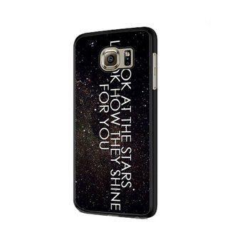 Coldplay the scientist quotes Samsung Galaxy S6 | S6 Edge Cover Cases
