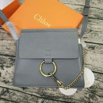 Chloe Women Shopping Leather Metal Chain Crossbody Shoulder Bag Satchel G-MY-JDCHH