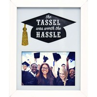 White The Tassel Was Worth the Hassle Graduation Photo Frame 8in x 10in | Party City