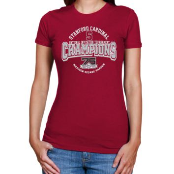 Stanford Cardinal 2012 NCAA Men's Basketball National Invitation Tournament Champions Ladies T-Shirt - Cardinal - http://www.shareasale.com/m-pr.cfm?merchantID=7124&userID=1042934&productID=555879185 / Stanford Cardinal