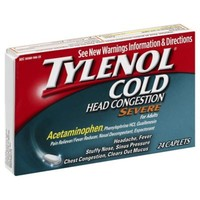 Tylenol Cold 24-Count Head Congestion Severe Caplets