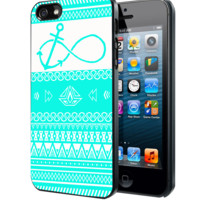 Mint Aztec Pattern Infinity Anchor Samsung Galaxy S3 S4 S5 Note 3 , iPhone 4 5 5c 6 Plus , iPod 4 5 case