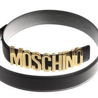 Faux Leather Moschino Belt