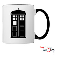 Tardis Silhouette Coffee & Tea Mug