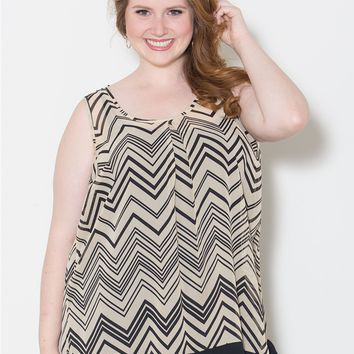 Plus Size Tops | Cathy Chiffon Tank | Swakdesigns.com