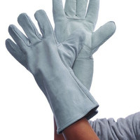 Gray Leather Welding Gloves Case Pack 36