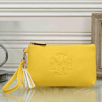 Tory Burch Women Leather Handbag Tote Clutch Bag