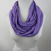 Lavender Infinity Scarf - Light Purple Jersey Scarf - Purple Circle Scarf