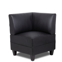 Boss Black Reception Sectional Corner Sofa BRS13C-BK