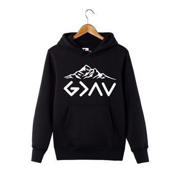 God is greater than my highs and lows Hoodie God is greater Hoodie Faith Hoodie Inspirational Mountains Hoodie