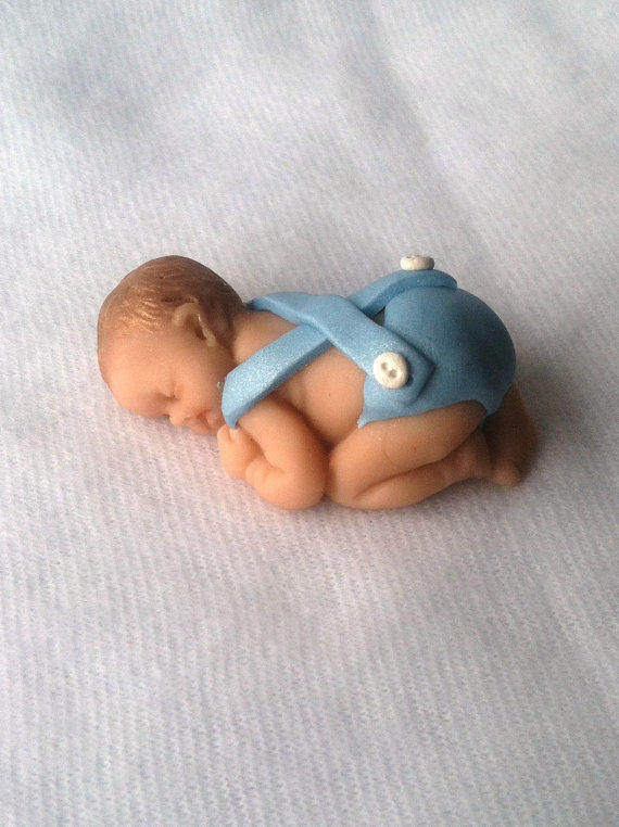 Baby Shower Cake Topper Baby Boy Keepsake From A Thread