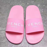 GIVENCHY PARIS andals Comfortable Loose Slippers Pink G -PSXY