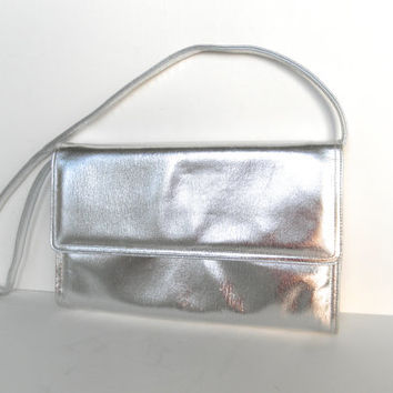 Vintage Jay Herbert Silver Purse Shoulder Bag Clutch Evening Purse Vintage Inspired New York Handbag