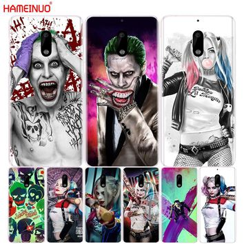 HAMEINUO suicide squad Joker harley quinn Margot Robbie cover phone case for Nokia 9 8 7 6 5 3  Lumia 630 640 640XL 2018