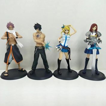 Fairy Tail Natsu Dragnir Lucy Heartfilia Action Figure 1/9 scale painted figure Grey Erza Scarlett PVC figure Toys Brinquedos
