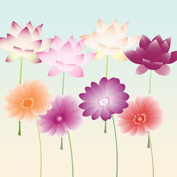 Digital flower clipart Flower png flower clip art Digital clipart Flowers instant download Printable flower Spring flower Floral clipart