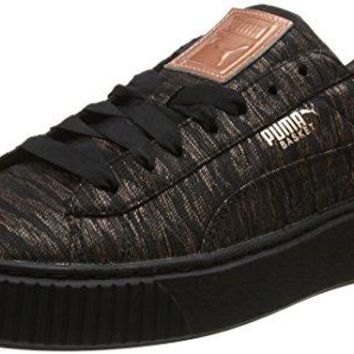 PUMA Basket Platform Vr Womens Sneakers Black