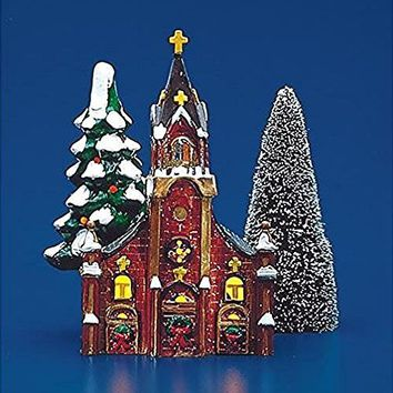 Department 56 Snow Village Gothic Church # 50288 Year 1986 Extremely Rare