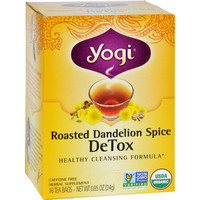 Yogi Tea - Organic - Roasted Dandelion Spice Detox - 16 Tea Bags - 1 Case