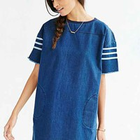 Little White Lies Denim Dress- Navy
