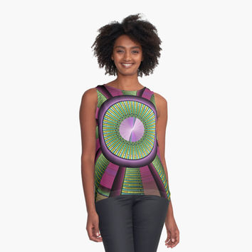 'Round and Colorful Fractal Pattern' Kontrast Top by gabiwArt