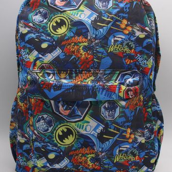 2017 New Batman School Bag Color Printing Cartoon Laptop Backpack Bags Shoulder Travel Bags Work Leisure Fashion Bag