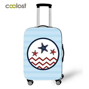 Compass Suitcase Covers Anchor Hooks Print Trolly Luggage Protective Cover Elastic Case Bag Portable Voyages Travel Accessories