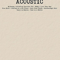 Acoustic Budget Book - Piano/Vocal/Guitar Songbook