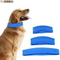 Blue Dog Cooling Collars Safe Gel Material Pet Summer Self Cooling Neck Collar For Small Medium Large Dogs 3 Size
