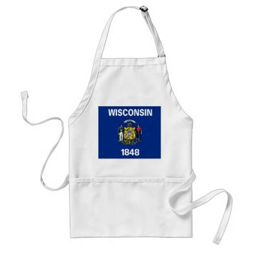 Apron with Flag of Wisconsin, U.S.A.