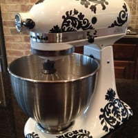 Kitchen Mixer Vinyl Decals-Damask