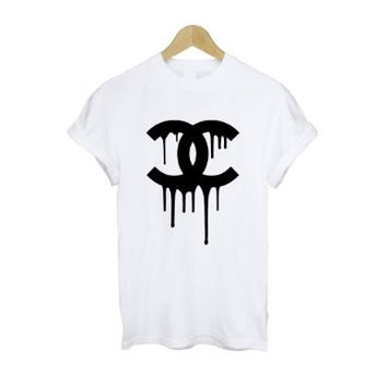 Dripping Chanel logo cocaine and caviar t shirt by teetheword