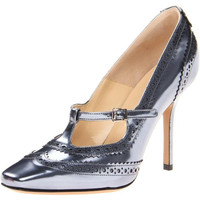 Marvin K. Womens Lauren Leather Metallic Oxford Heels
