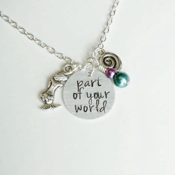 Disney's Little Mermaid Inspired Necklace