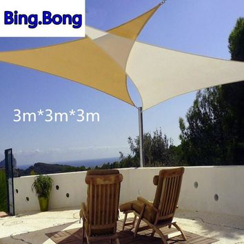 Waterproof Garden or Patio Sun Shade Sail - 3m X 3m X 3m